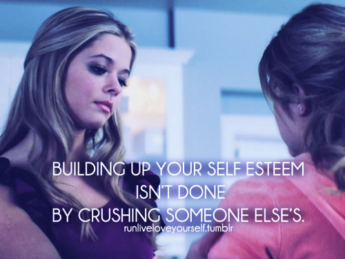 Ali & Hanna from PLL are the perfect example for this sentence.  In other words: It's not because you bitch about someone else's looks that you'll be any prettier!