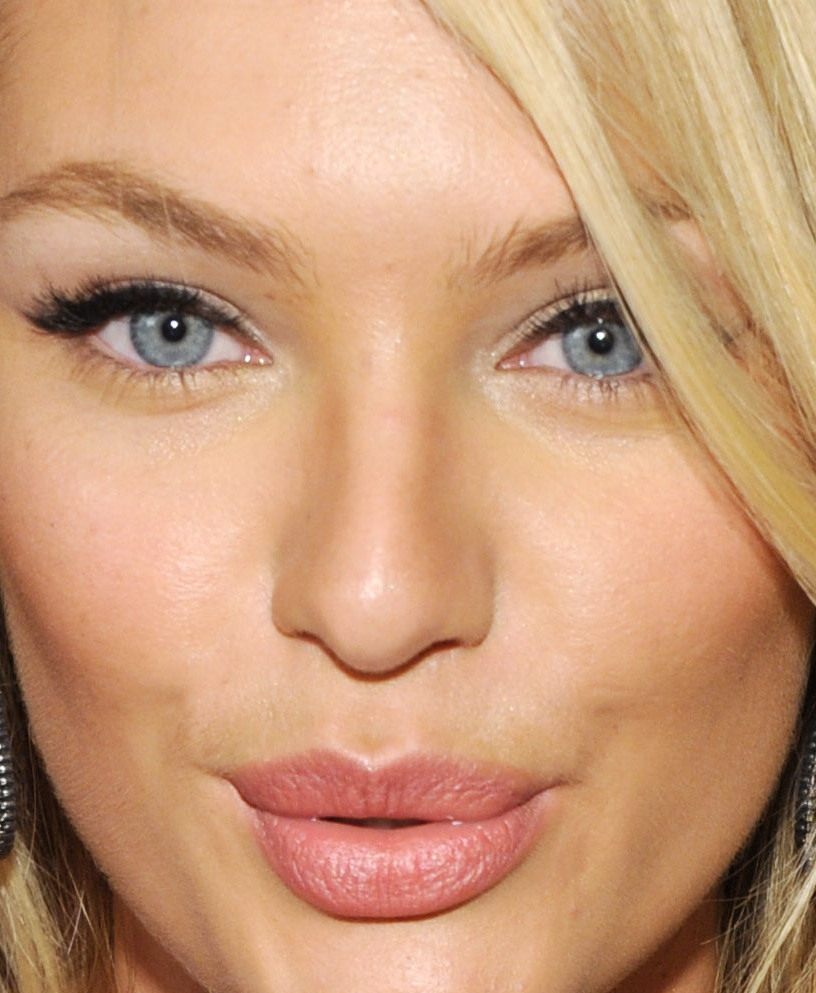 My fave celebrity makeups | candice swanepoel pink lips black liquid ...