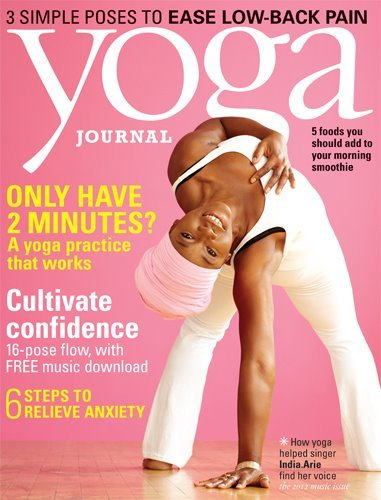 sapphrikah:  divalocity:  India Arie for the September issue of Yoga Journal Magazine.  Terrell was telling me about this cover. I KNEW that was her.   Lovely.