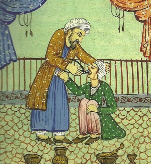 dendroica:  yourhost:   ( 18th century persian dentist - tooth extraction. ) via  Ouch. Ouch. Ouch. Ouch.  I'm going to have to give this the nay-no, my damie.