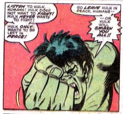 onepanel:  The very simple rules of The Hulk Hulk Annual #5  That's all they had to do. They made him the monster.
