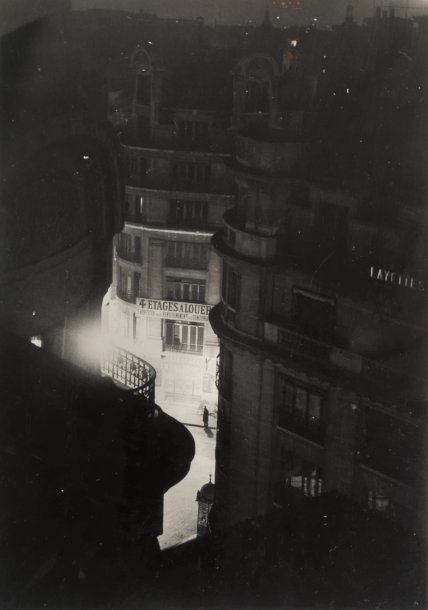 Brassaï:  Paris de Nuit, (4 floors for rent), 1932.