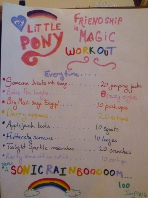 feministfitness:  Took me an hour to make this!  Lets get buff…