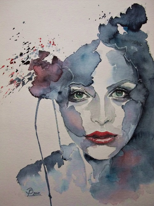 To Be Different by  Birgit Lehmann*watercolor painting*