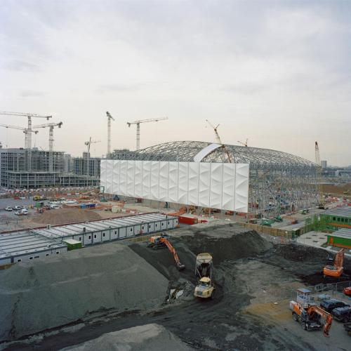 London Olympics basketball arena, under construction, 2010