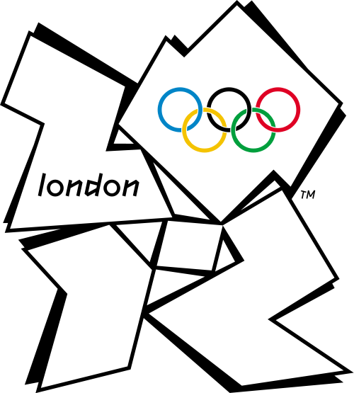 The official logo of the 30th Olympiad, London, 2012, designed by Wolff Olins.