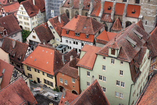 ysvoice:  | ♕ |  Rooftops of Rothenburg - Germany  | by © Jim Hart