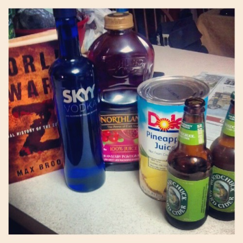 Bath time success tip #1: Books & Booze are a must. (Taken with Instagram)