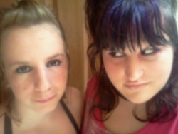 Me and avery! I have purple hair! :D