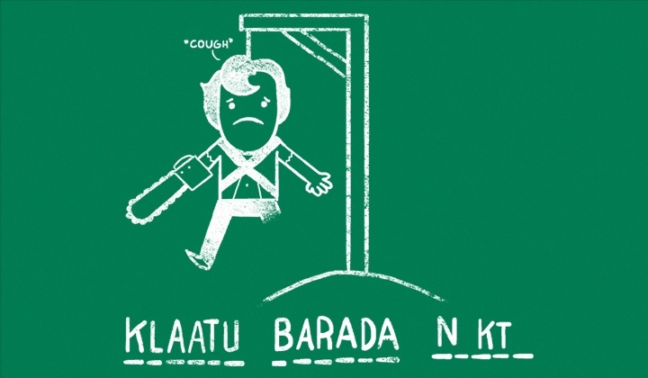 Klaatu Barada N…Cough - by QueenmobOn sale for 24 hours only for $10 from ShirtPunch .