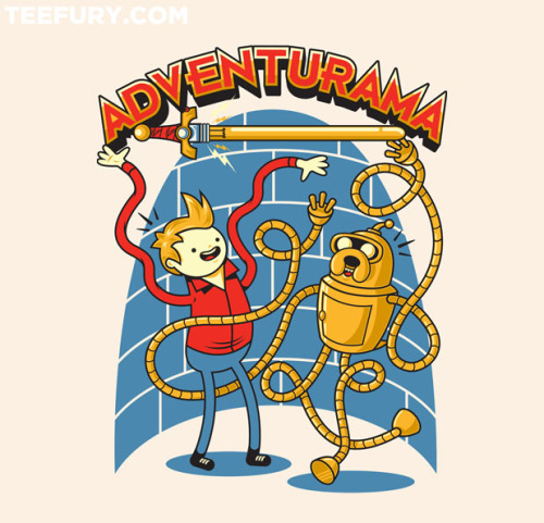 Adventure Time & Futurama! Maybe the greatest shirt in the history of the fucking world! Teefury does it again!Follow Atomic Rocket on Facebook!