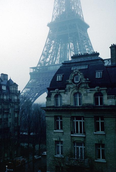 City Eiffel Tower Paris Architecture Buildings Vertical