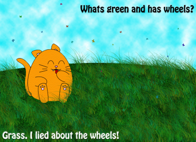 Grass…..I lied about the wheel.