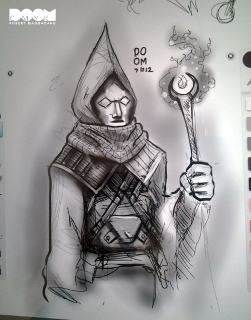 My wizard sketch #2. digital drawing on Sketchbook Pro.