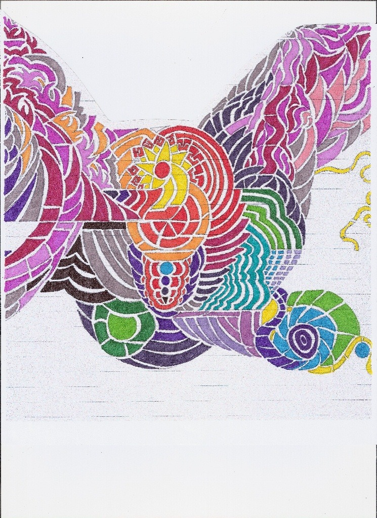 """A Colorful Peace for Jenny"" - Pencil and Marker on Paper"