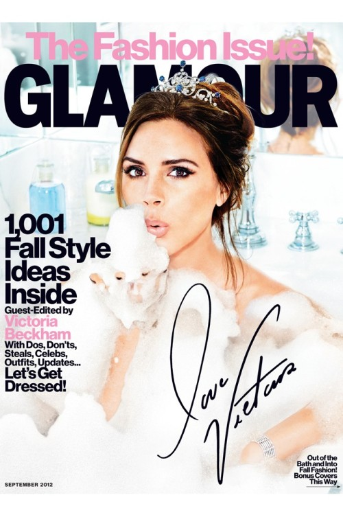 style4style:  Victoria Beckham guest edits & covers for Glamour Magazine - September 2012. (photo via: WomensWearDaily)