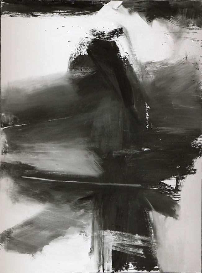 Franz Kline - Black, White, and Gray, 1959. Oil on canvas