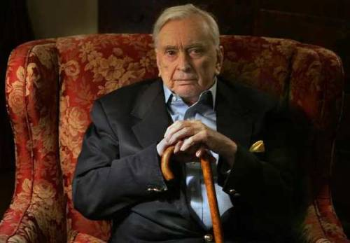 "Gore Vidal RIP From the Los Angeles Times. Gore Vidal, the iconoclastic writer, savvy analyst and imperious gadfly on the national conscience, has died. He was 86. Vidal died Tuesday at his home in the Hollywood Hills of complications of pneumonia, said nephew Burr Steers. Vidal was a literary juggernaut who wrote 25 novels, including historical works such as ""Lincoln"" and ""Burr"" and satires such as ""Myra Breckinridge"" and ""Duluth."" He was also a prolific essayist whose pieces on politics, sexuality, religion and literature — once described as ""elegantly sustained demolition derbies"" — both delighted and inflamed and in 1993 earned him a National Book Award for his massive ""United States Essays, 1952-1992."" Threaded throughout his pieces are anecdotes about his famous friends and foes, who included Anais Nin, Tennessee Williams, Christopher Isherwood, Orson Welles, Truman Capote, Frank Sinatra, Jack Kerouac, Marlon Brando, Paul Newman, Joanne Woodward, Eleanor Roosevelt and a variety of Kennedys. He counted Jacqueline Kennedy Onassis and Al Gore among his relatives. He also wrote Broadway hits, screenplays, television dramas and a trio of mysteries under a pseudonym that remain in print after 50 years. When he wasn't writing, he was popping up in movies, playing himself in ""Fellini's Roma,"" a sinister plotter in sci-fi thriller""Gattaca"" and a U.S. senator in ""Bob Roberts."" In other spare moments, he made two entertaining but unsuccessful forays into politics, running for the Senate from California and Congress in New York, and established himself as a master of talk-show punditry who demolished intellectual rivals like Norman Mailer and William F. Buckley with acidic one-liners. ""Style,"" Vidal once said, ""is knowing who you are, what you want to say, and not giving a damn."" By that definition, he was an emperor of style, sophisticated and cantankerous in his prophesies of America's fate and refusal to let others define him."