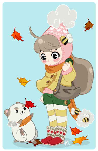Fall Friends! Fall is my favorite season, I wanna see Bee in some fall wear. :B Submitted by spikysofia.