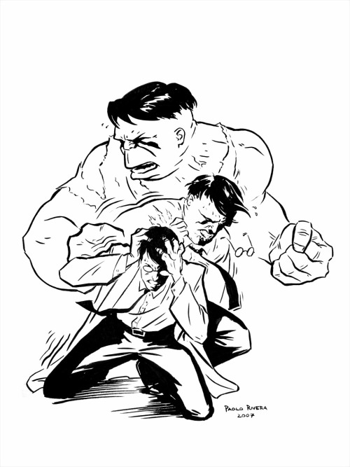 comicblah:  Hulk transformation by Paolo Rivera