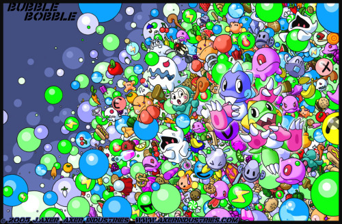 saeluive:  Bubble Bobble Madness By JayAxer