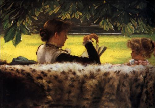 muscovycompany:  Reading A Story - James Tissot