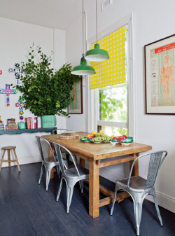 myidealhome:  happy dining with an industrial twist (via desire to inspire)