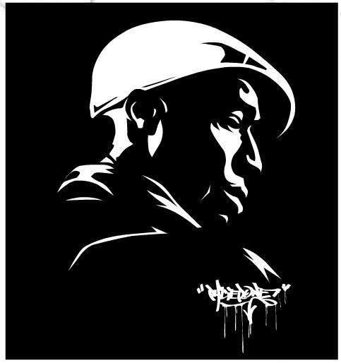 old illustrator piece I did  - Grand Master Flash - one of a series.