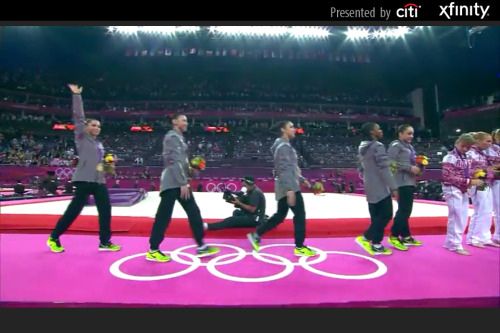 212. July 31. Watching the Olympics on my phone. Team USA gymnastics!!