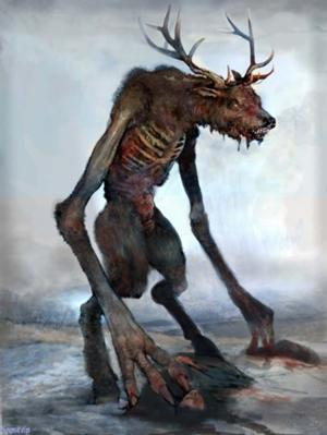 tears-of-a-slampoet:  teratomarty:  diarrheaworldstarhiphop:  The Wendigo is a spirit of famine from the folklore of the Algonquian peoples of the Great Lakes and much of Canada east of the Rockies. It is common in Midwestern horror stories and folktales. It is thought of as a malevolent cannibalistic spirit that could possess humans or a monster that humans could physically transform into. Those who indulged in cannibalism were at particular risk,and the legend appears to have reinforced this practice as a taboo.It is said that in times of famine, any human that is driven to eat the flesh of another person in their hunger may become a Wendigo. The Wendigo has an insatiable appetite. Whenever it eats a person it grows in proportion to the size of its meal, causing its hunger to grow more and more intense.  Please note that Wendigo are among the unpleasant category of monsters that are summoned by the mention of their name.  The middle of Summer is about the only safe time to talk about them out loud.  They can also use your name against you- if it's the middle of Winter, and you hear your name in the howling wind, DON'T GO OUTSIDE.  Get a friend to tie you to a bed or lock you in a closet if need be.  THANKS FOR TERRIYFNG ME YOU BUTTHEADS  In Middle School Drama I wrote a radio play about these fuckers *-*