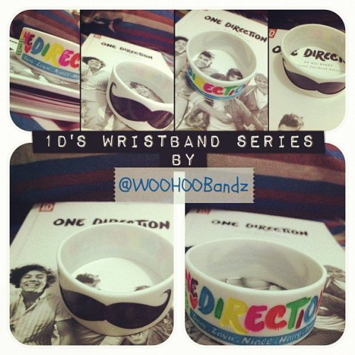 ONE DIRECTION WRISTBAND!!!! AAAAA. Who's want? Easy. Just follow @WOOHOObandz on twitter! :D