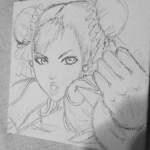 #chunli #streetfighter on a 4x4 canvas, just need some paint markers 💙💙💙 (Taken with Instagram)