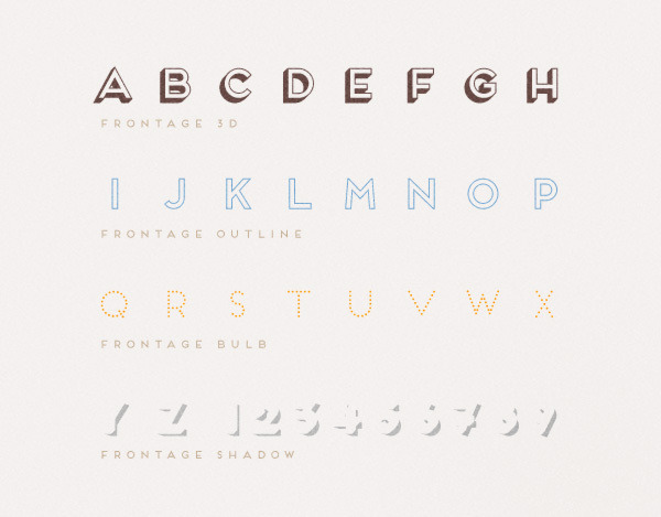 Juri Zaech - Frontage Typeface