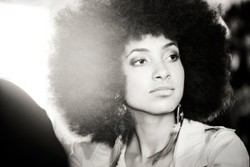 Esperanza Spalding absolutely stunning! one of my favorite pictures of her