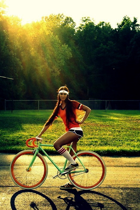 …girl on bike