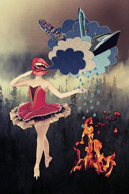 """Hypocrisy"" by Eugenia Loli  Follow the artist: TumblR 