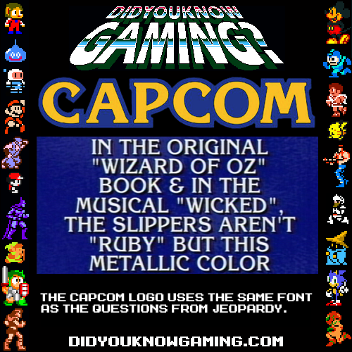 "hipsterhangout:  FALSED - look at the ""M"".  Capcom might use a bolder type, but the font is Enchanted."