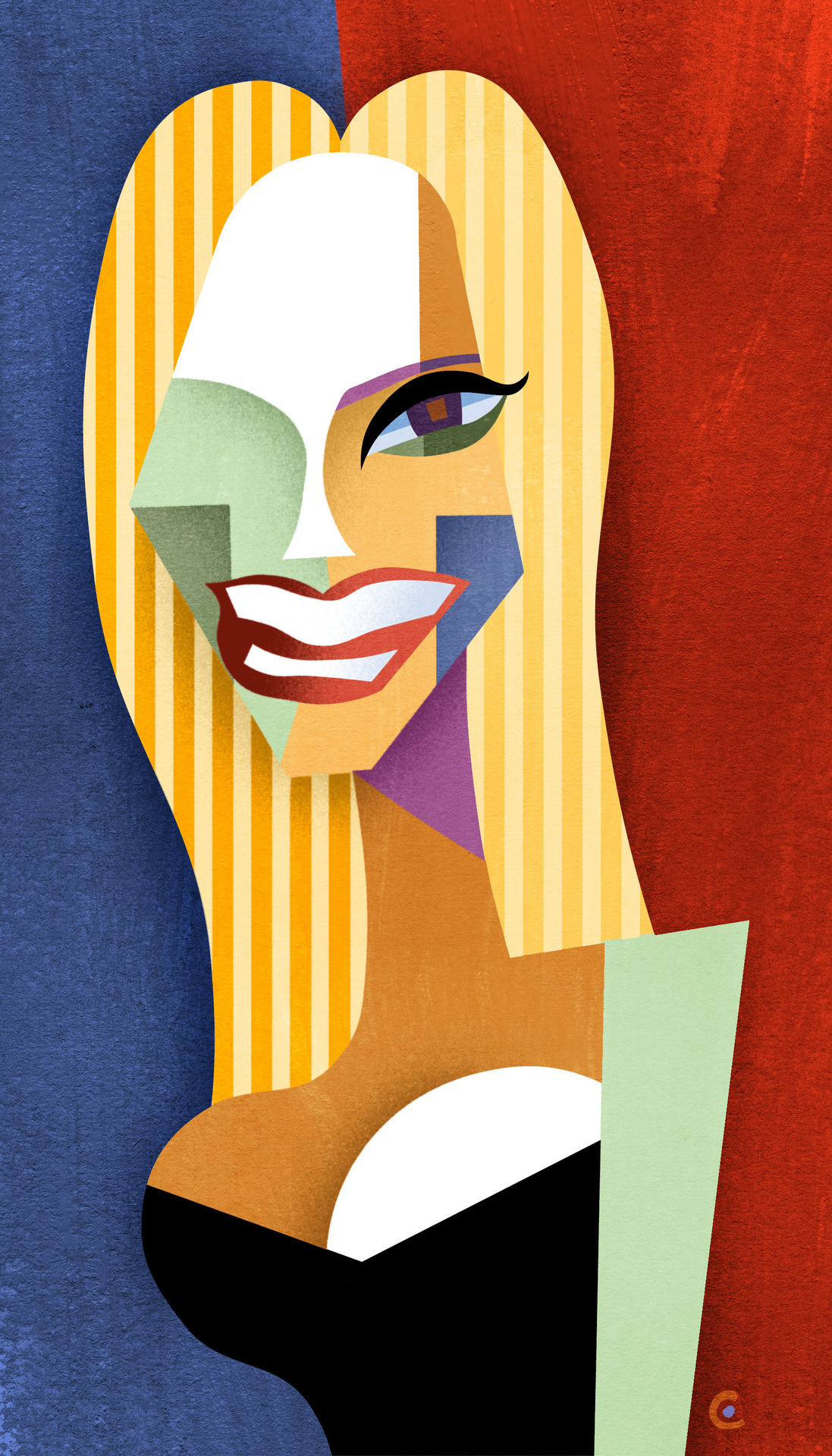 davidcowlesillustrations:  Happy Birthday, Heidi Klum