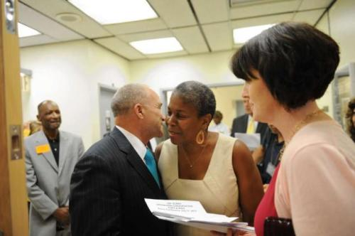 NYPD Commissioner Ray Kelly and Indpendence Party leader Lenora Fulani, via New York Daily News. Your caption?