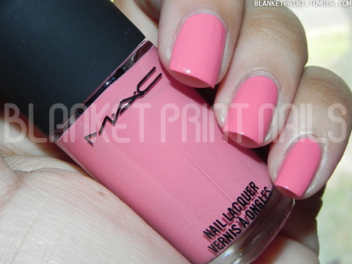 Color: Please Me (M∙A∙C)Retail Price: $16.00 (USD) This shade is from the M∙A∙C Casual Color collection.  It is a mid-tone warm pink with a creme finish. The formula for this shade was easy to work with (a pleasant surprise after my experience with the M∙A∙C Beth Ditto pastels), and Please Me was opaque in an easy two coats. Overall, I really like this shade. It has a really sweet, romantic feel, and it's work-safe, too! Moreover, I think this shade (and any shade in this collection) is perfect if you're wanting to try out the matching lip and nail color trend. Disclosure: Product sample provided by M·A·C.