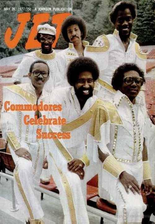 superseventies:  The Commodores on the cover of Jet magazine, May 1977.