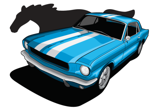 Vector illustration: Ford Mustang Independent project