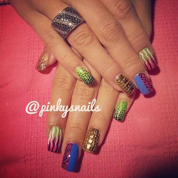 Tribal mix and matches in fun summer colors by Esther ! (Taken with Instagram)