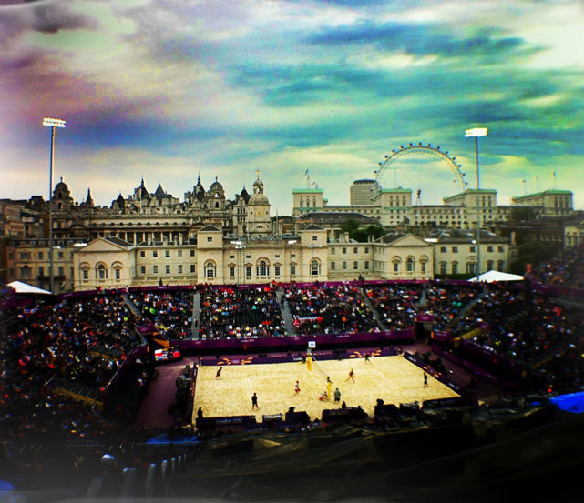 Poland and South Africa compete in men's beach volleyball at the Horse Guards Parade on Wednesday. The Polish team of Mariusz Prudel and Grzegorz Fijalek, who beat Americans Jacob Gibb and Sean Rosenthal on Monday, breezed to a 2-0 victory over South Africans Freedom Chiya and Grant Goldschmidt. (Laura Heald/SI) SI STAFF: Follow SI on Instagram for the latest pics from London GALLERY: London 2012 Olympic Games: Day 4 | Day 3 | Day 2 | Day 1