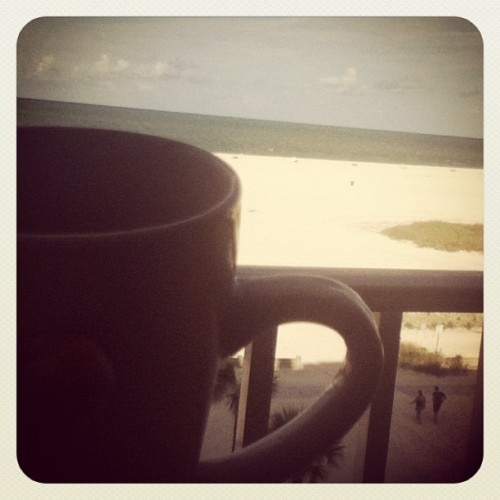 Good morning Florida #tea #beach #florida #morning  (Taken with Instagram at Bilmar Beach Resort)