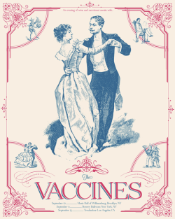 Cool poster for The Vaccines upcoming US dates. Check out their full schedule here: http://bit.ly/N1AHGy [via: http://bit.ly/MyxFJ7]