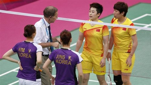 All 8 women disqualified for throwing Olympic badminton matches AP: 8 female badminton doubles players have been disqualified from the London Olympics after trying to lose matches to receive a more favorable place in tournament. The suspended teams include 2 from South Korea and 1 each from China and Indonesia.  Photo credit: Bazuki Muhammad / Reuters