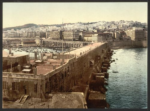 The harbor from the lighthouse, Algiers, ca. 1899.