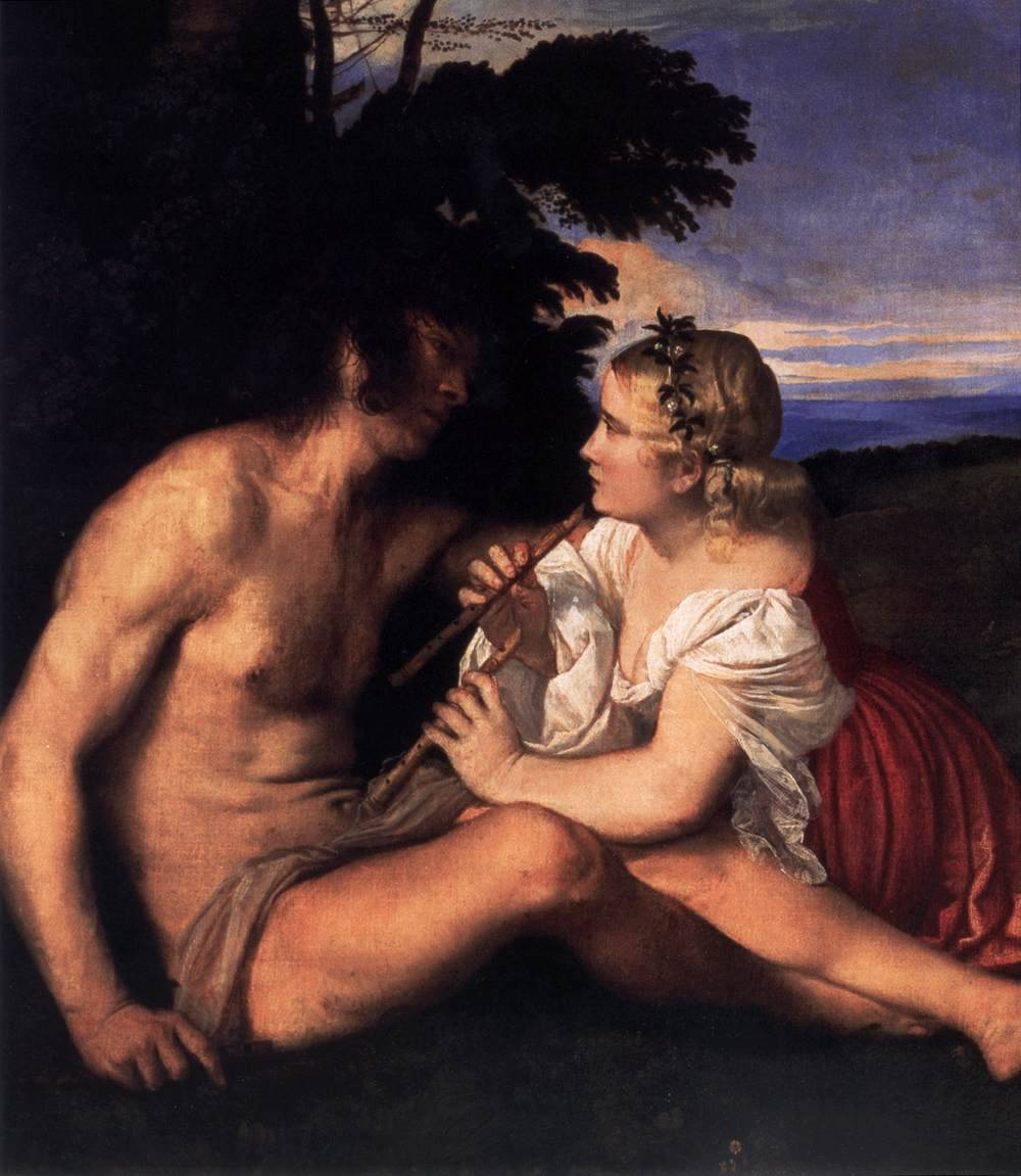composition-improvisation:  Titian, The Three Ages of Man (detail), c. 1512