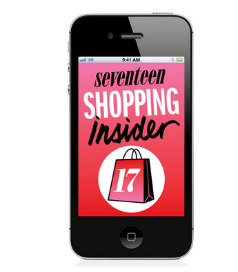 Happy Thrifty Thursday!  Download the Seventeen Shopping Insider [free!] App for some sweet deals that you can score! Check it out!  xoxo, julie!